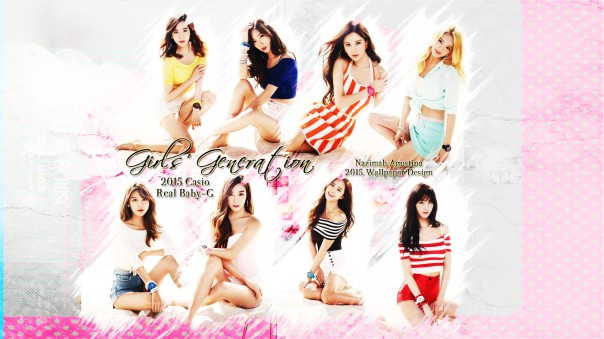 snsd real casio baby-g new 2015 summer beach wallpaper by nazimah agustina brush soft ver