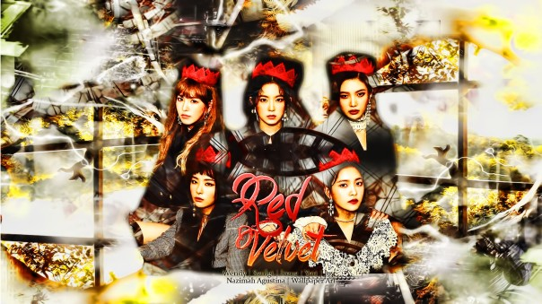 red perfect velvet irene seulgi wendy yeri joy new wallpaper peek a boo by nazimah agustina 2017 art (5)